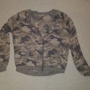 Sheer camo jacket